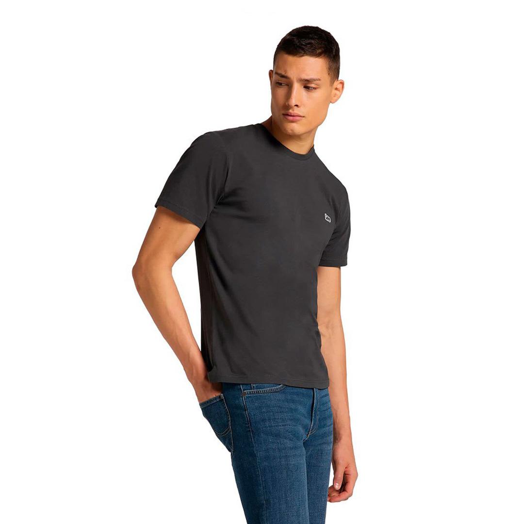 LEE Μπλουζάκι Μονόχρωμο Ανδρικό Μαύρο (L60UFQON)