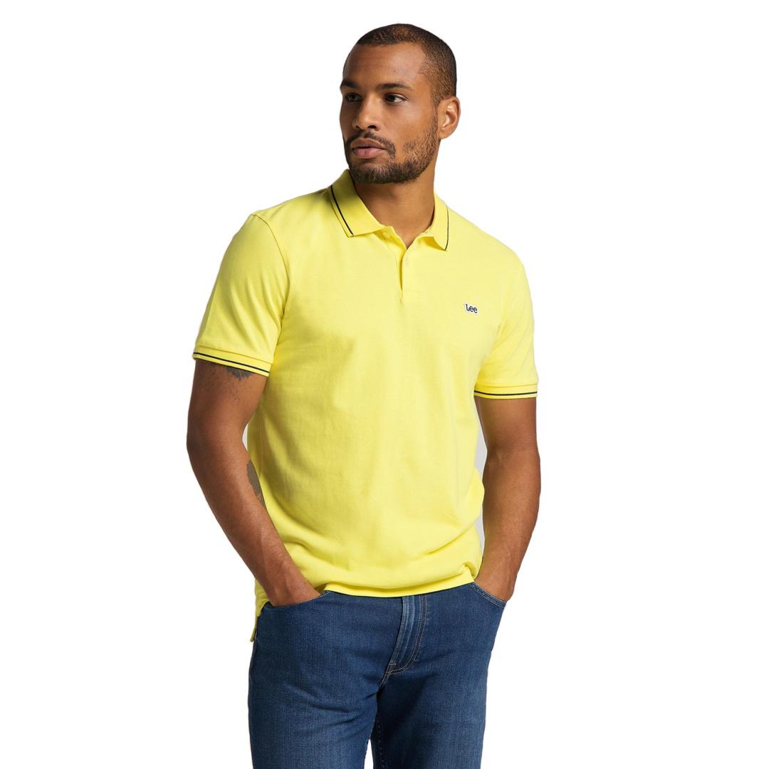 LEE Pique Polo for Men - Lemon (L61ARLQG)