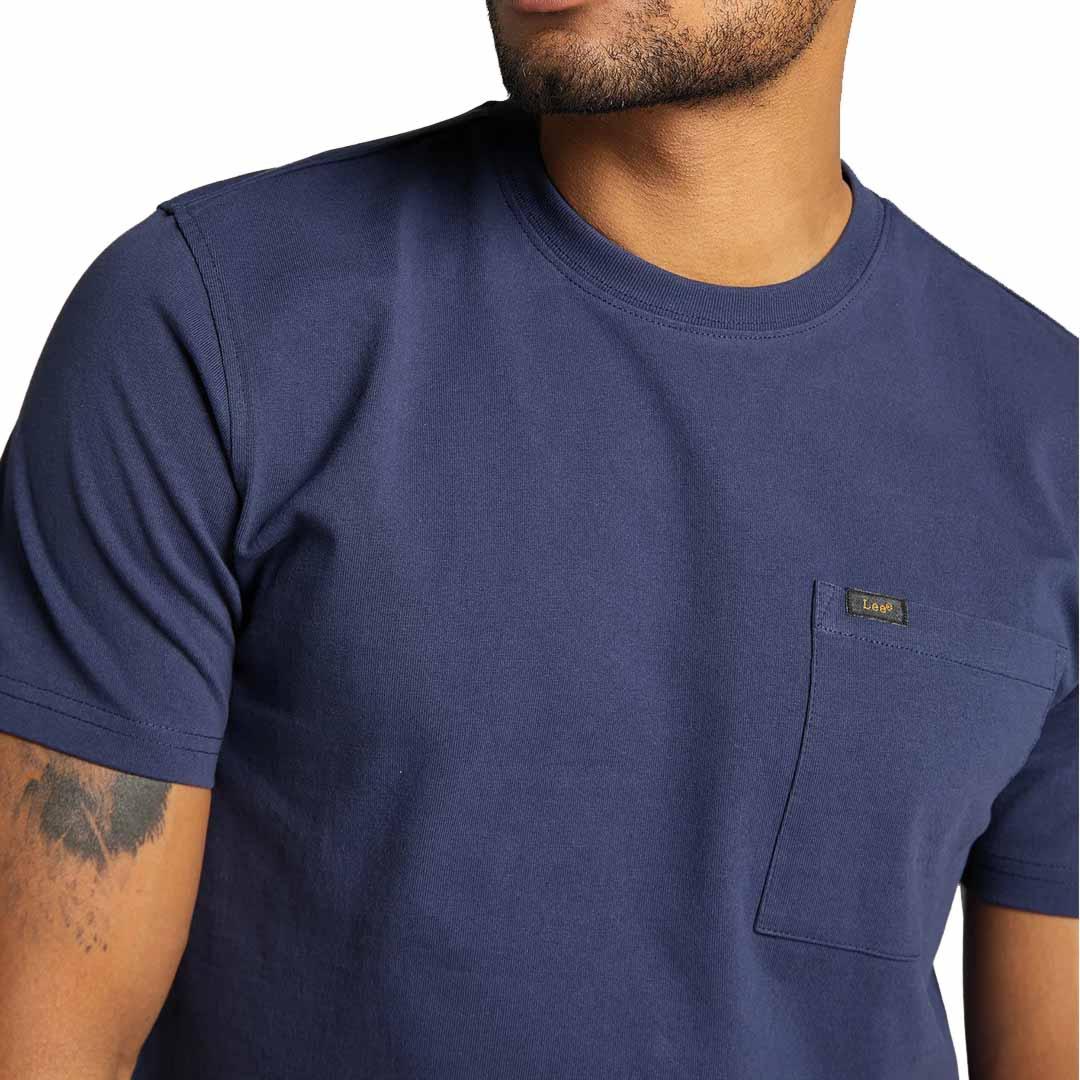 LEE Μπλουζάκι Ανδρικό Κοντό Μανίκι με Τσέπη Μπλε (L64PSWNM)