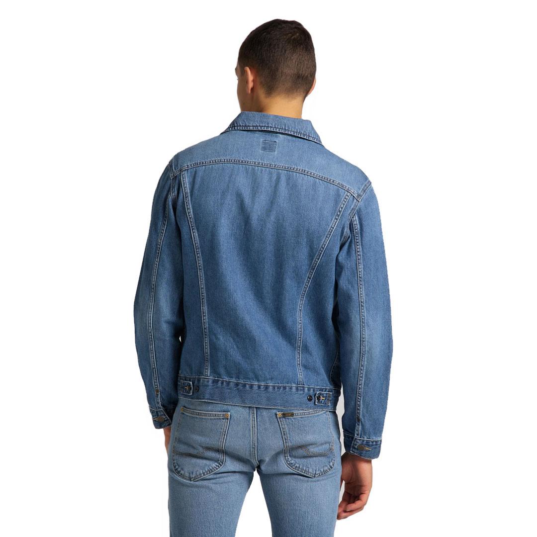Lee Rider Denim Men Jacket - Washed Camden (L89ZLJPI)