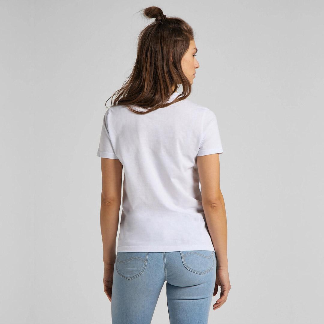 LEE Slim Logo Women T-Shirt - Bright White (L44NEPLJ)