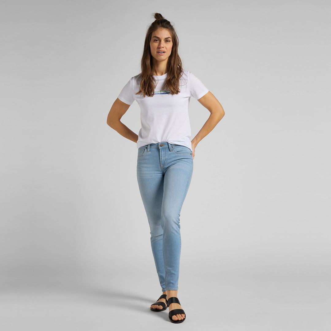 LEE Slim Logo Women Tee - White