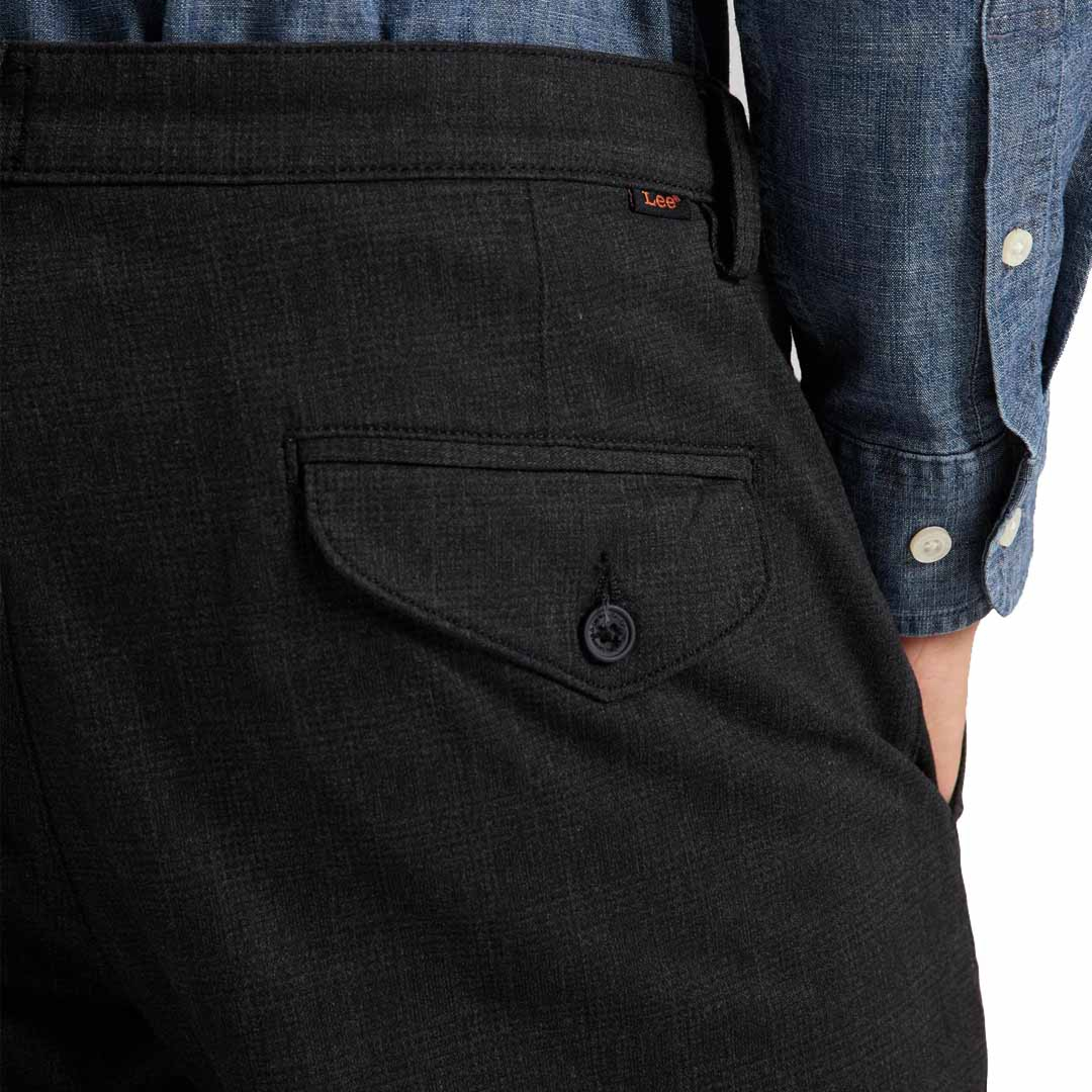 LEE Slim Men Chino - Pewter Check (pocket)