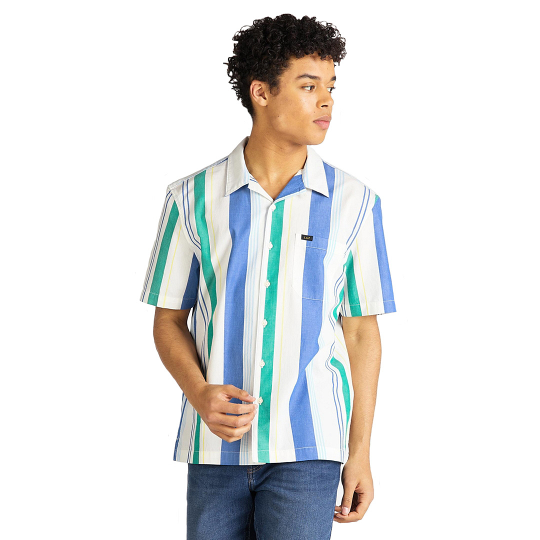 LEE SS Resort Men Shirt - Summer Blue (L67P-DV-NJ)