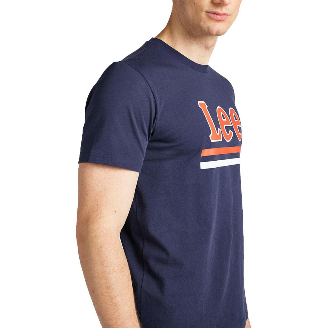 LEE Μπλούζα Ανδρική Λογότυπο Μπλε  (L64V-FQ-NM)