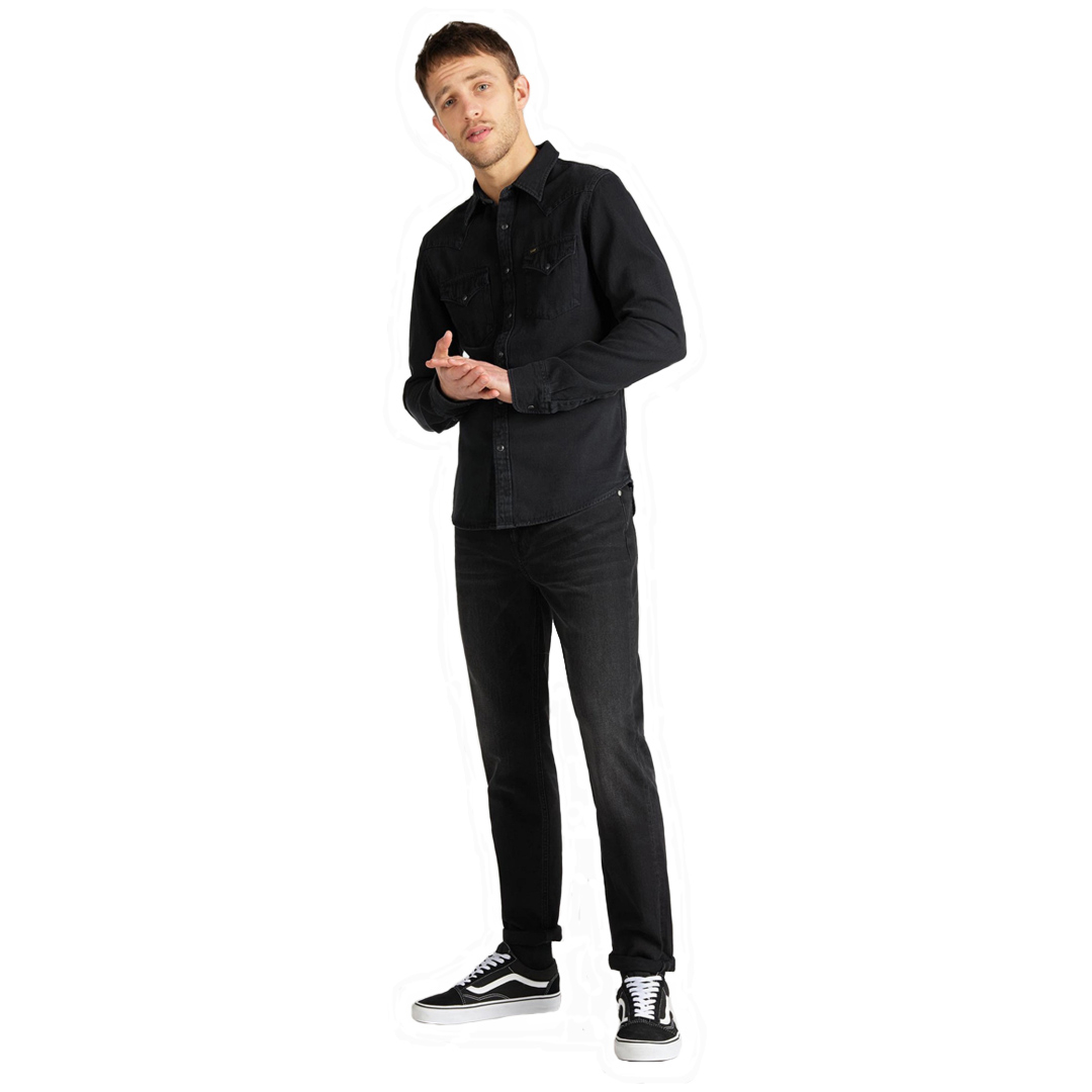 LEE Western Denim Men Shirt Slim - Black (L643-PA-01)