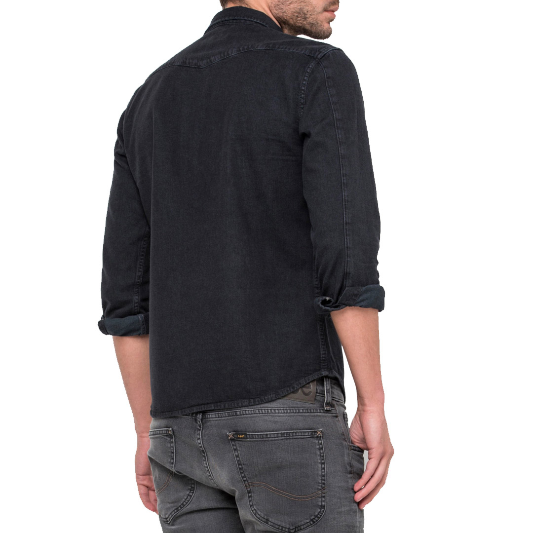 LEE Western Denim Men Shirt - Pitch Black (L643KBGL)