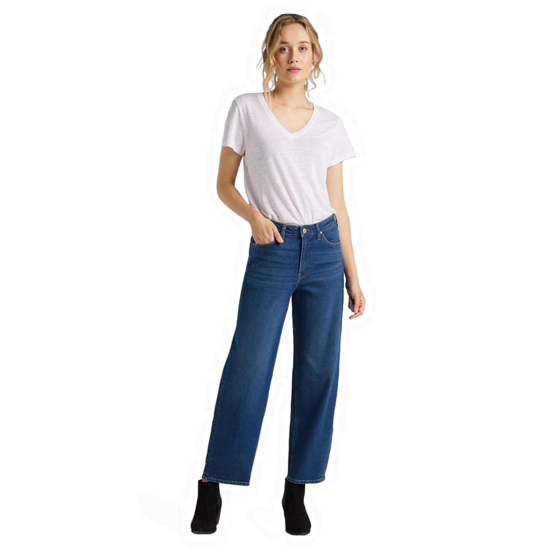LEE Wide Leg Women Cropped Jeans - Dark Dora (L30S-LT-YM)
