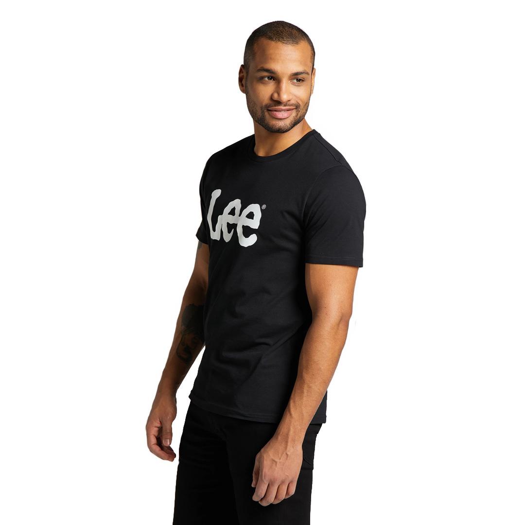 LEE Ανδρικό Μπλουζάκι Λογότυπο Μαυρο (L65QAI01)
