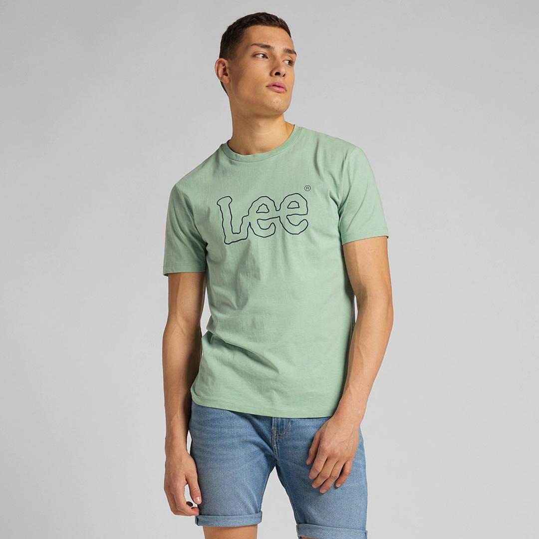 LEE μπλουζάκι λογότυπο ανδρικό - πράσινο (L65QAIQN)