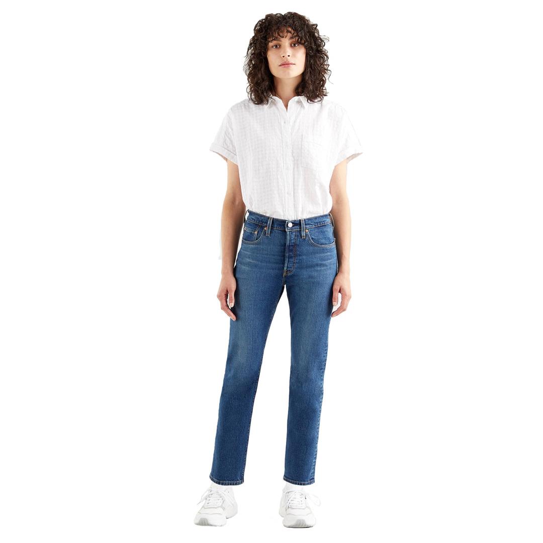 Levi's® 501® Crop Τζιν Γυναικείο Πετροπλυμμένο (36200-0157)