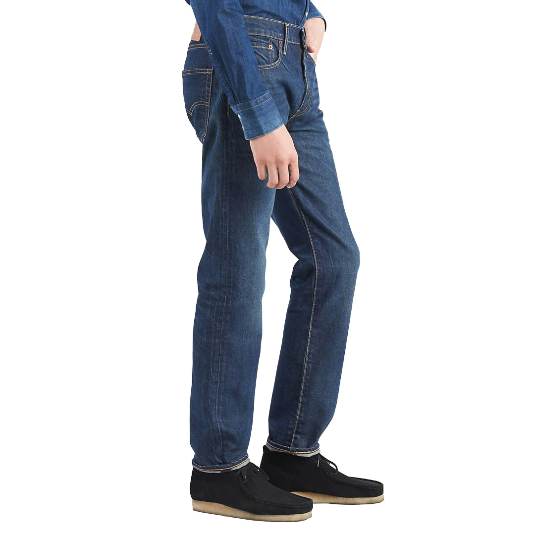 Levi's® 502™ Regular Taper Jeans - Ama Mid Vintage (side)