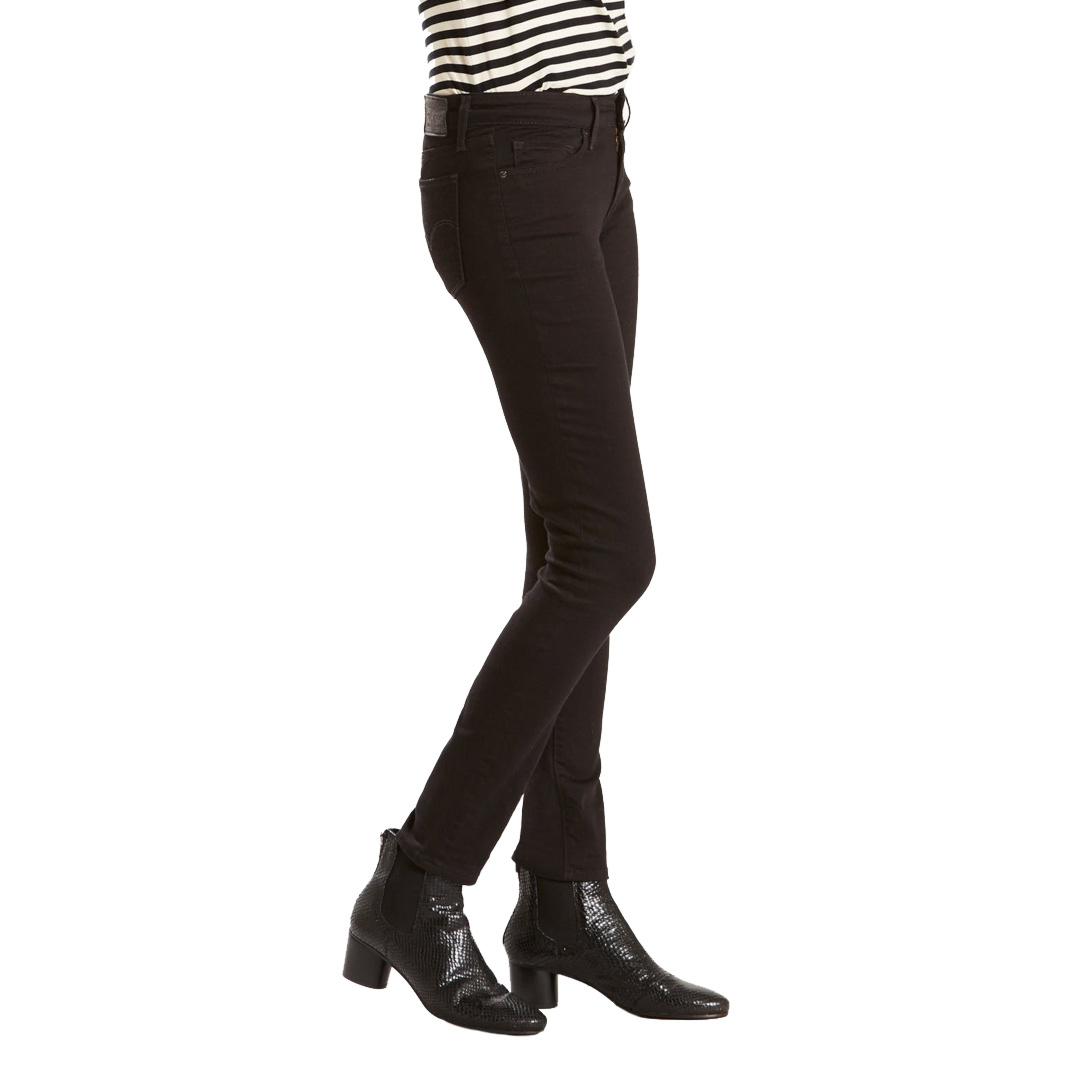Levi's® 711 Skinny Γυναικειο Τζιν Παντελονι - Black Sheep (18881-0052)