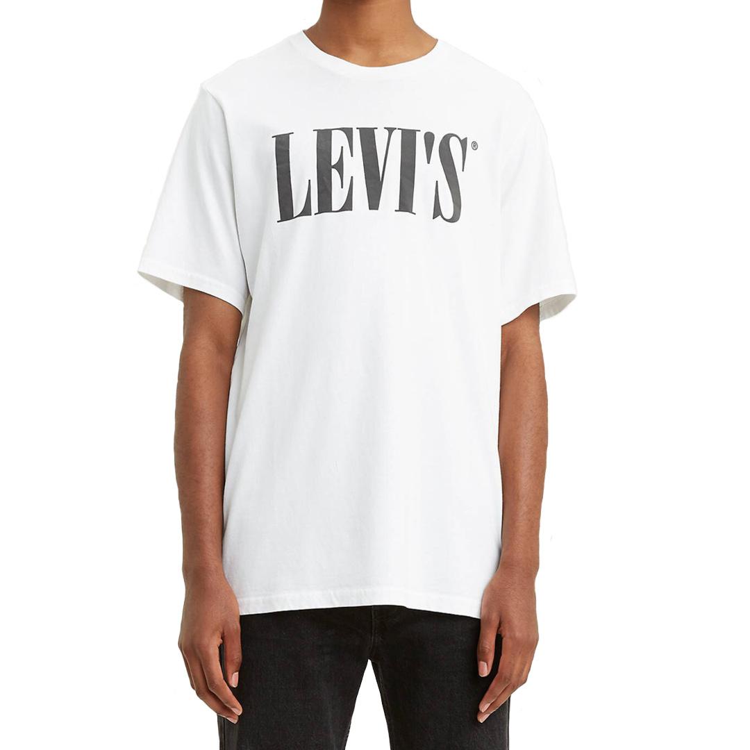 Levi's® 90s Serif Logo Relaxed Men Tee - White (69978-0026) - front