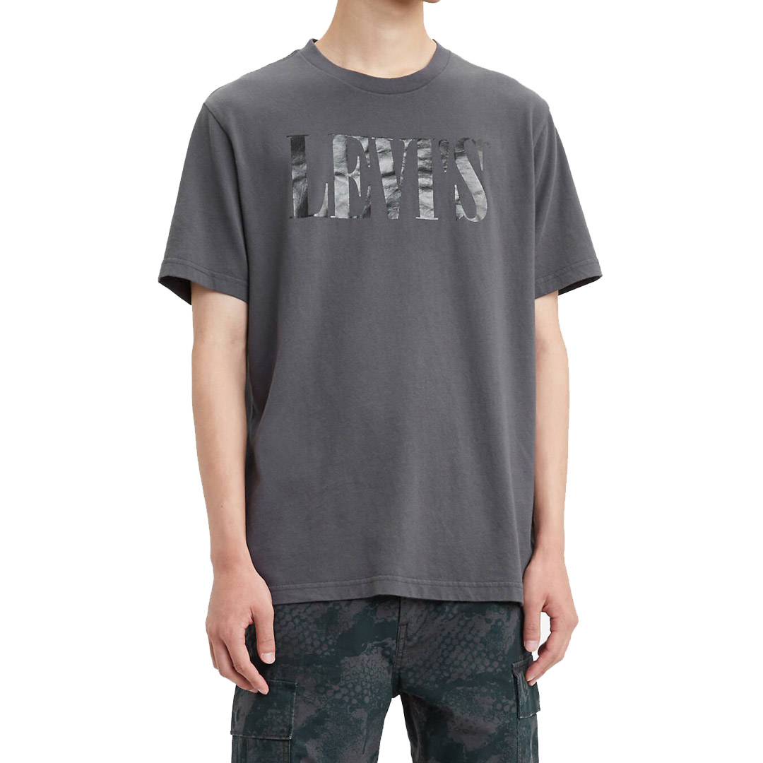Levi's® 90s Serif Logo Relaxed Men Tee - Forged Iron (69978-0045)
