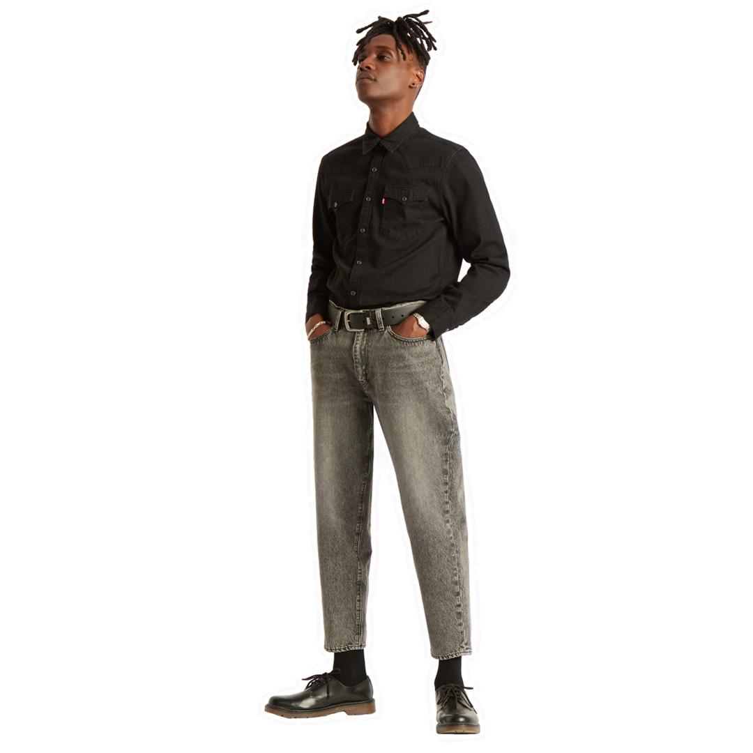 Levi's® Barstow Western Τζιν Πουκάμισο Ανδρικό - Μαύρο (85744-0002)