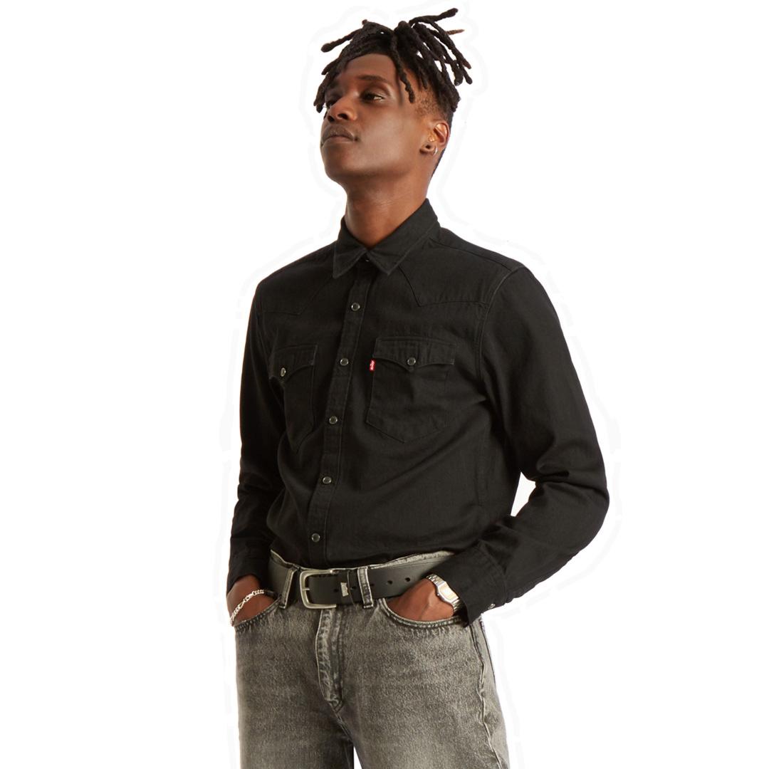 Levi's® Barstow Denim Standard Shirt - Marble Black Rinse (85744-0002)
