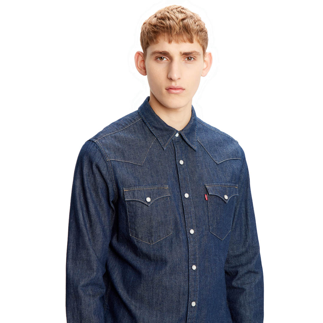 Levi's® Barstow Denim Men Shirt - Rinse Marbled (85744-0000)