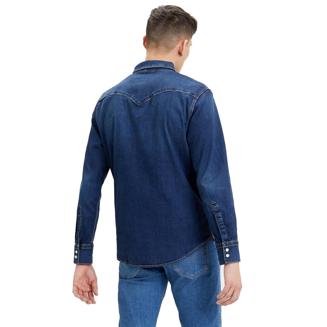 Levi's® Barstow Denim Slim Stretch Shirt - Dark Worn Blue (85744-0009)