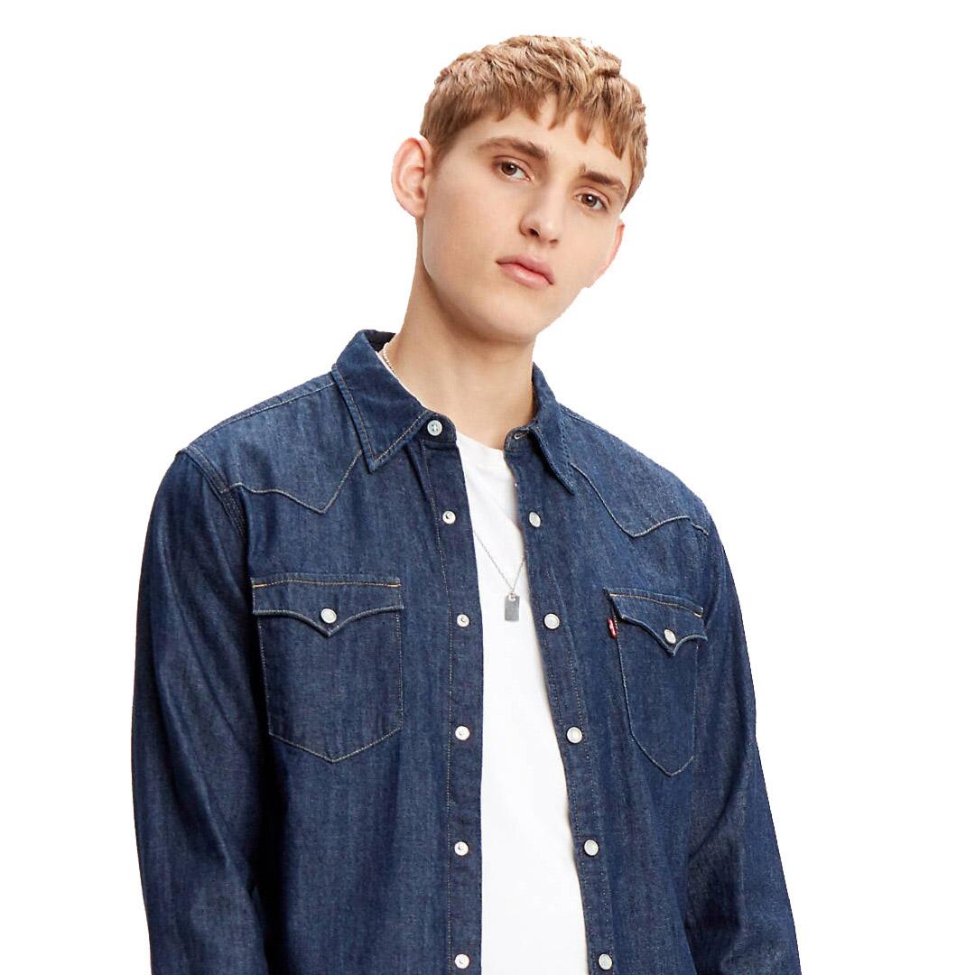 Levi's® Barstow Denim Standard Men Shirt - Rinse Marbled (85744-0000)