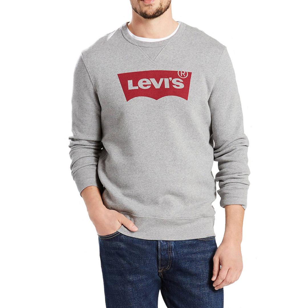 Levi's® Ανδρικο Φουτερ Λογότυπο Γκρι Μελ (17895-0030)