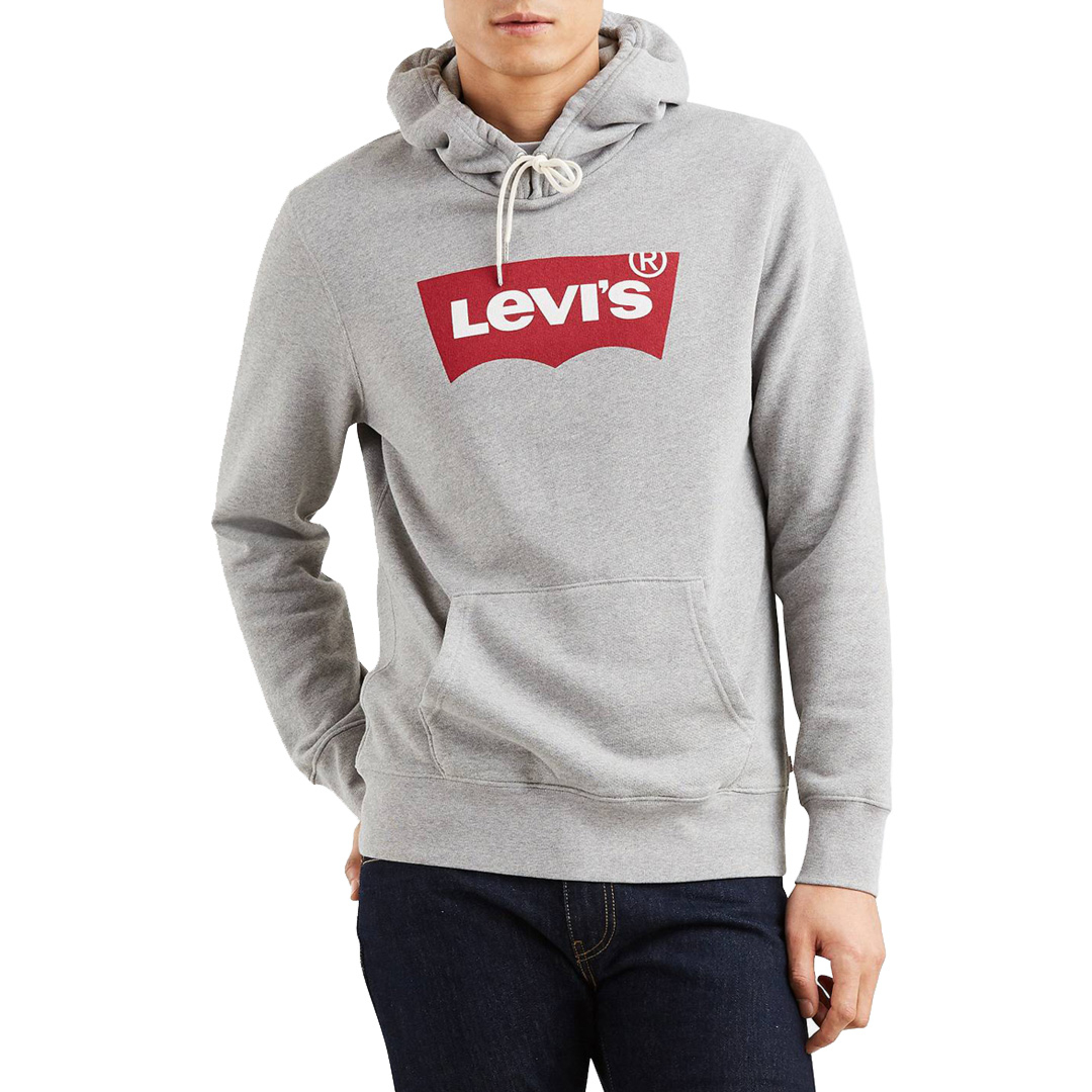 Levi's® Housemark Graphic Men Hoodie - Midtone Heather Grey (19491-0037)