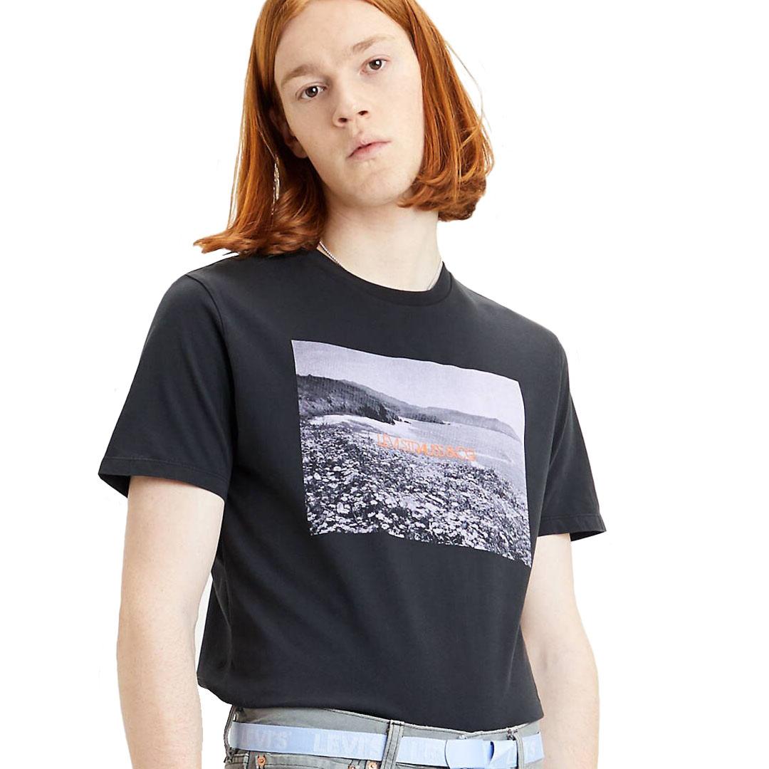 Levi's® Graphic Photo Μπλουζάκι Ανδρικό Μαύρο (22491-0743)