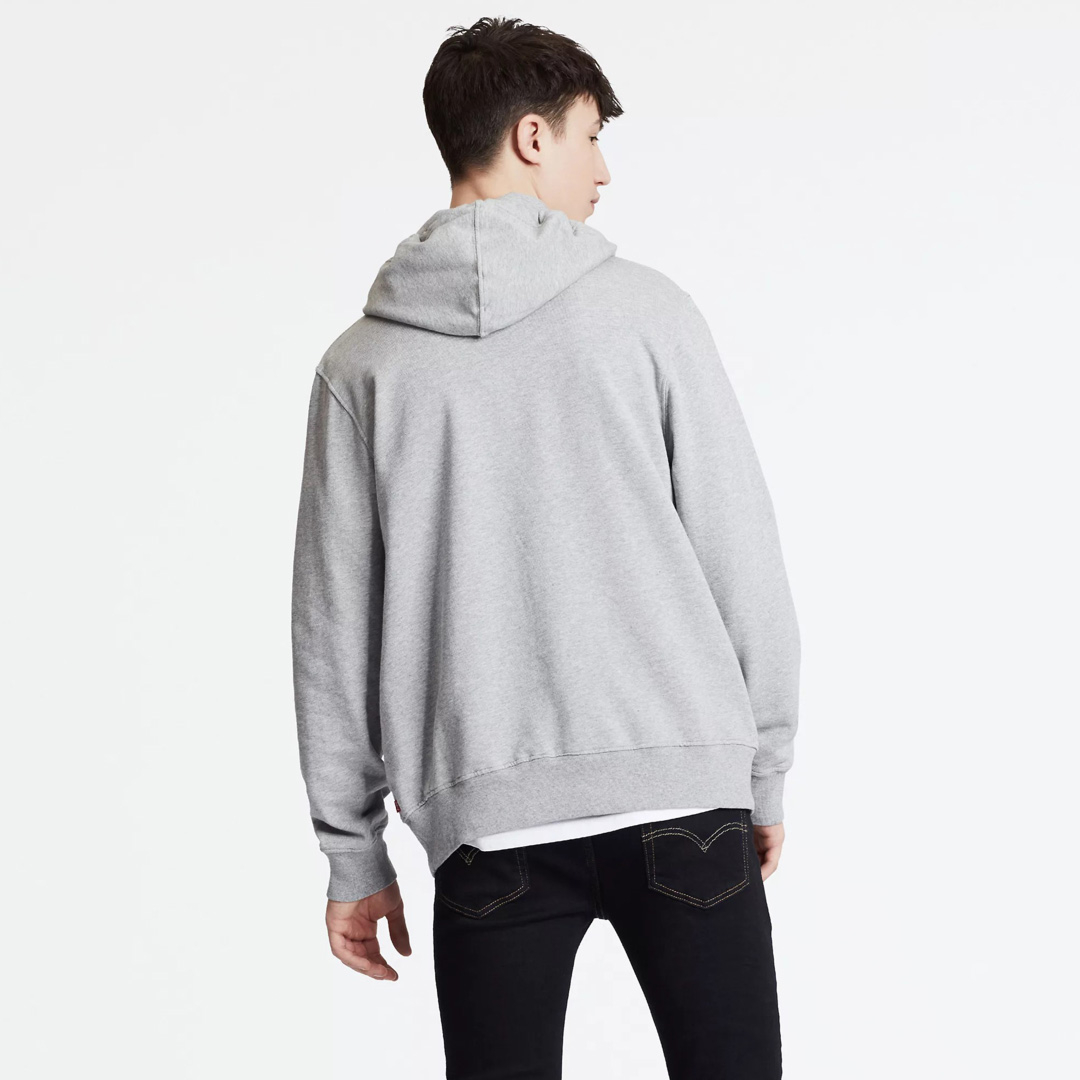 Levi's® Graphic PO Hoodie SSNL Tech Men - Midtone Heather Grey (19491-0076)