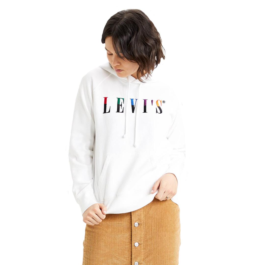 Levi's® Graphic Sport Hoodie Split Serif - White (35946-0240)