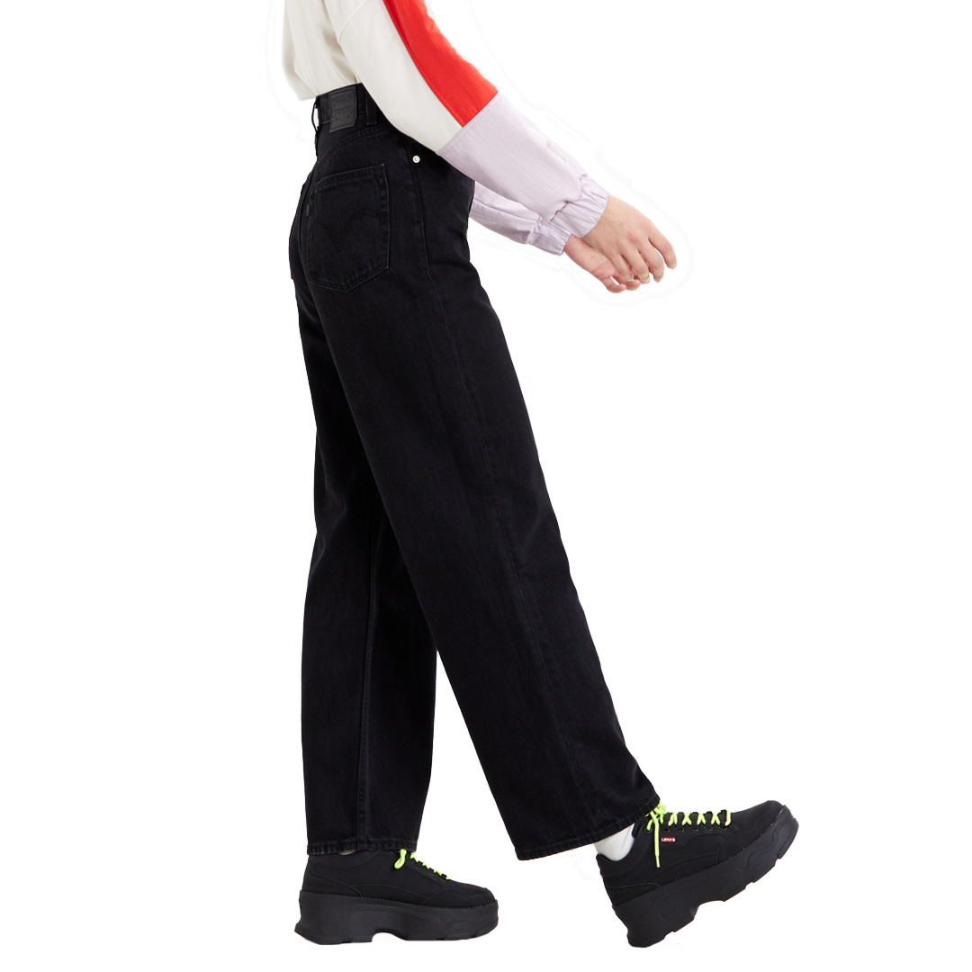 Levi's® Τζιν Γυναικείο Φαρδύ Παντελόνι - Μαύρο Ξεβαμμένο (26872-0000)