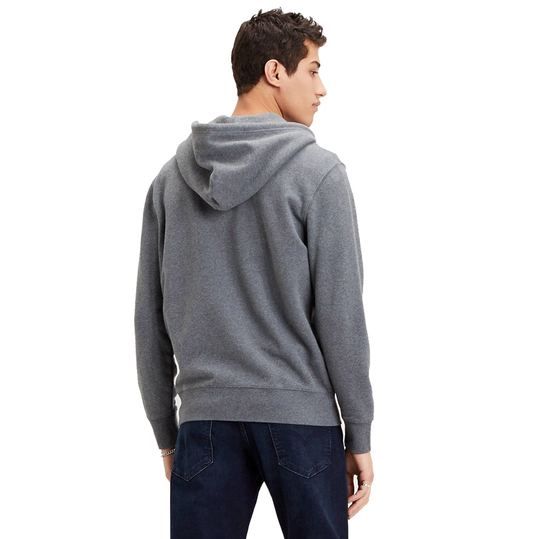 Levi's® New Original Zip Up Men Hoodie - Charcoal Heather (34584-0000)