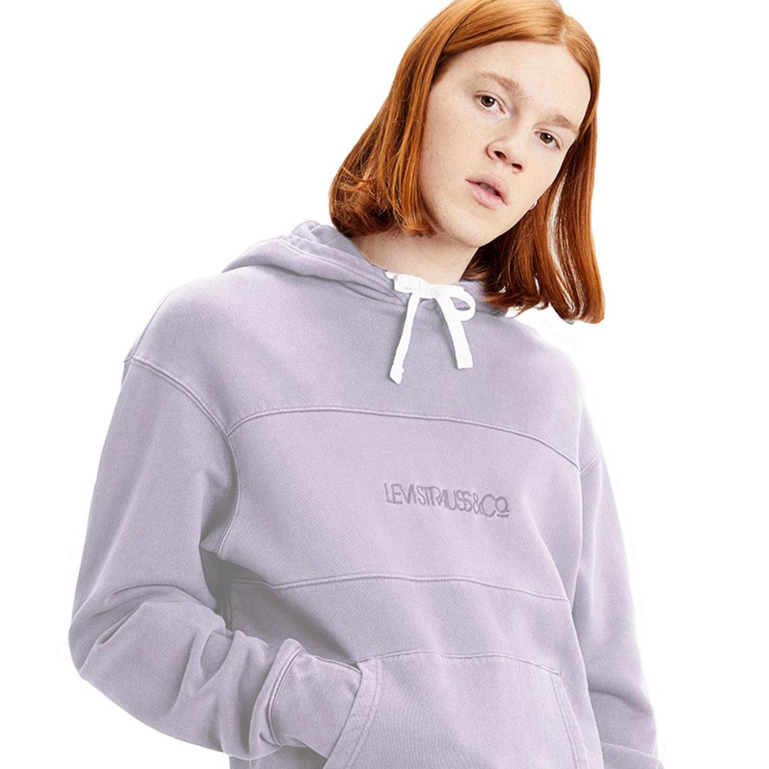 Levi's® Novelty Relaxed Φουτερ Ανδρικό Color Block - Lavender Frost Garment Dye (35872-0001)