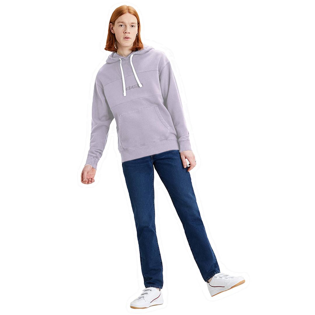 Levi's® Novelty Φουτερ Κουκούλα Ανδρικό - Lavender Frost Garment Dye (35872-0001)