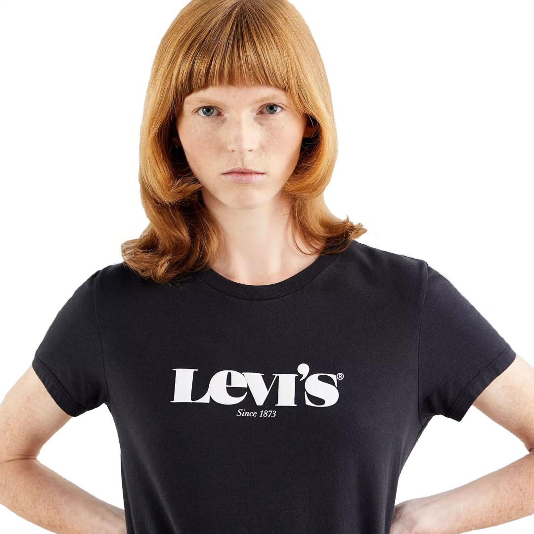 Levi's® Λογότυπο Γυναικείο Μπλουζάκι Μαύρο (17369-1250)