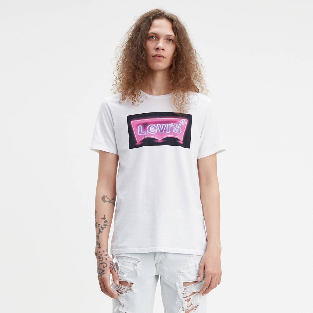 Levi's® Ανδρικό Μπλουζάκι Κοντομάνικο Λογότυπο Λευκό (22491-0488)