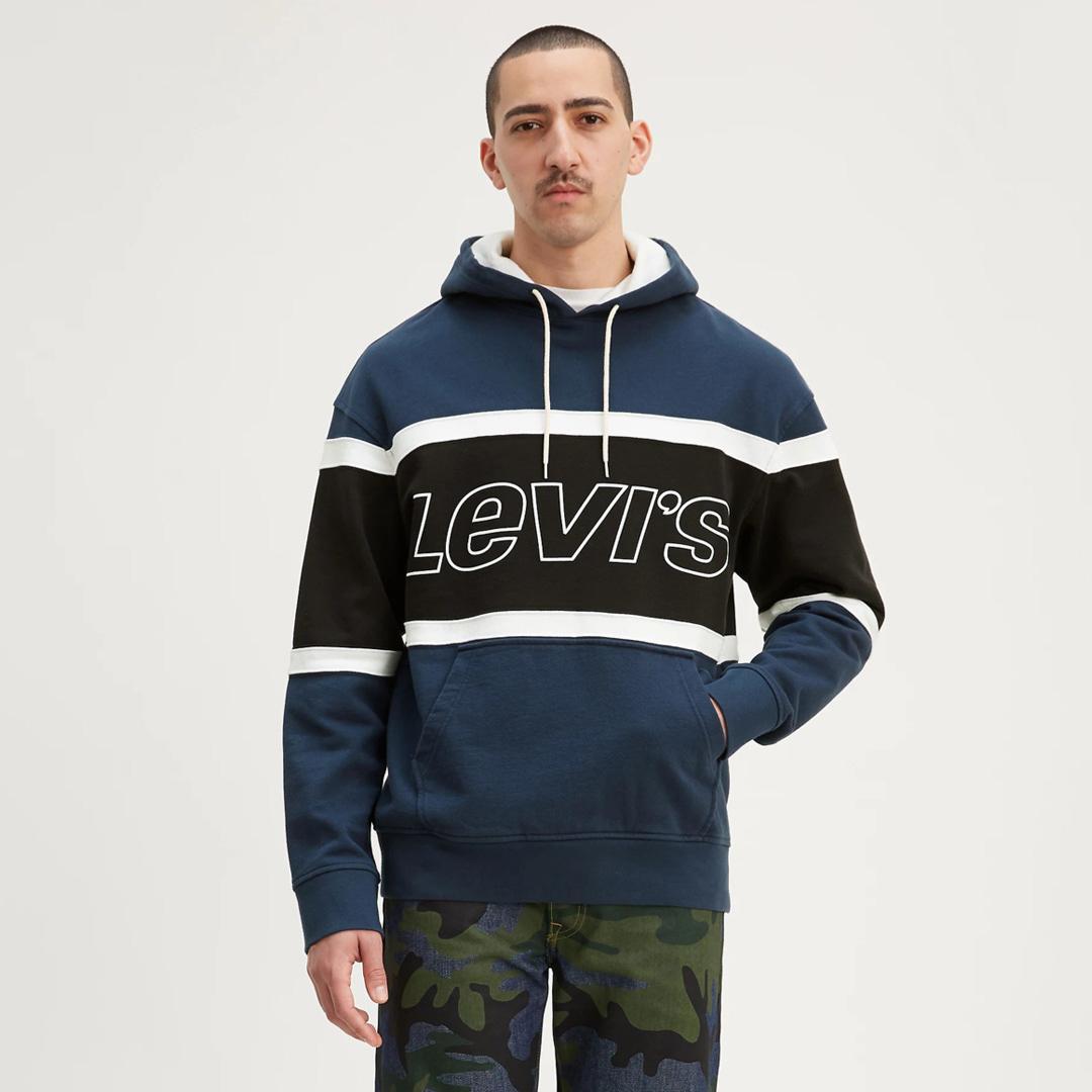 Levi's® Ανδρικο Φουτερ Κουκούλα Colorblock - Μπλε (81954-0001)