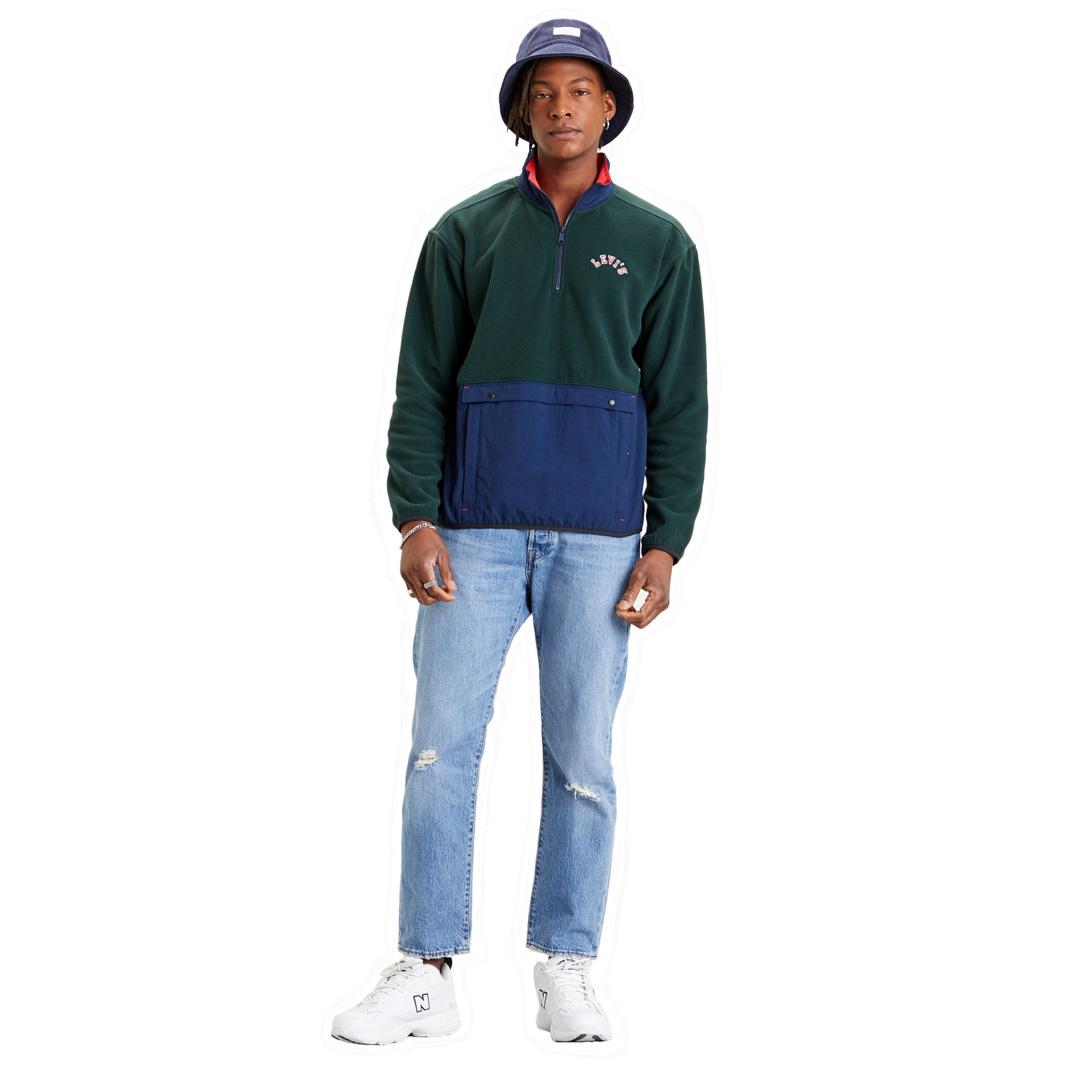 Levi's® Fleece Ανδρικο - Πράσινο/ Μπλε (35978-0001)