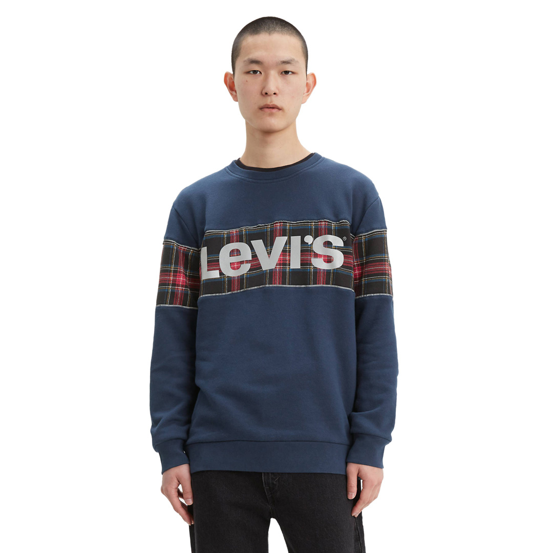 Levi's® Colorblock Crew - Dress Blue (69873-0001)