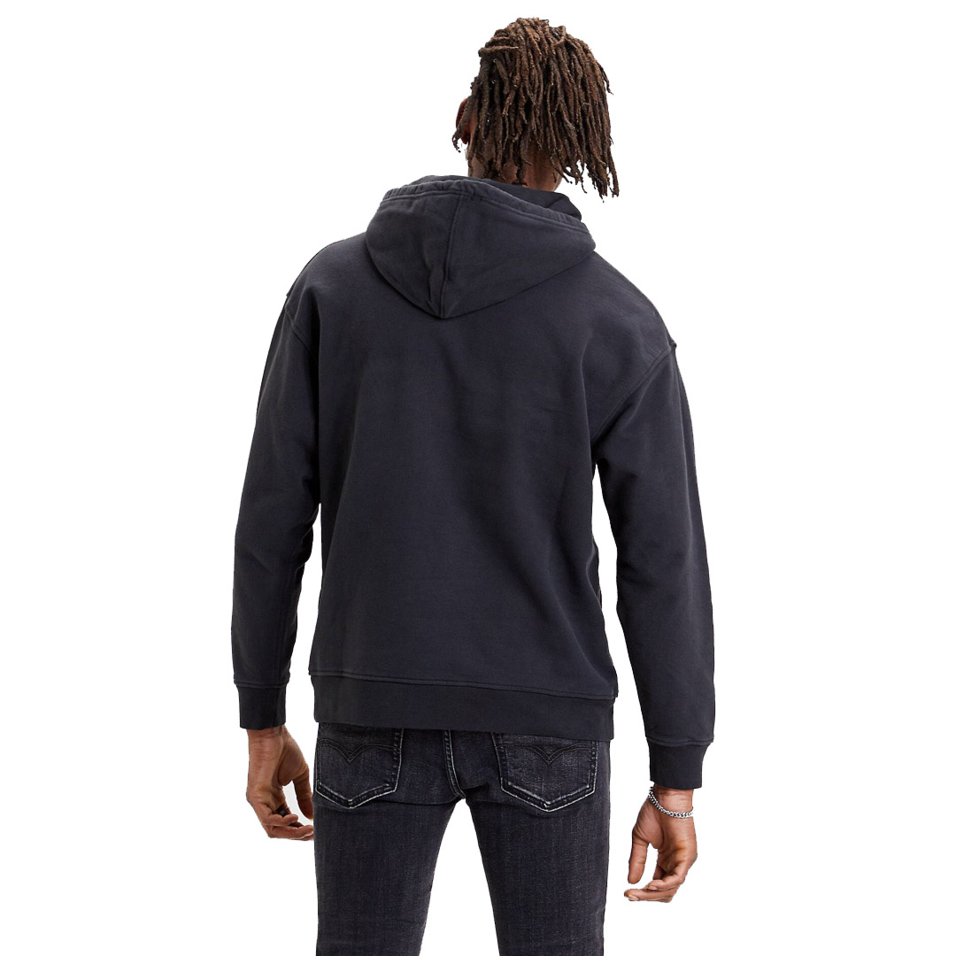 Levi's® Relaxed Graphic Men Hoodie Serif Logo - Jet Black (38479-0011)
