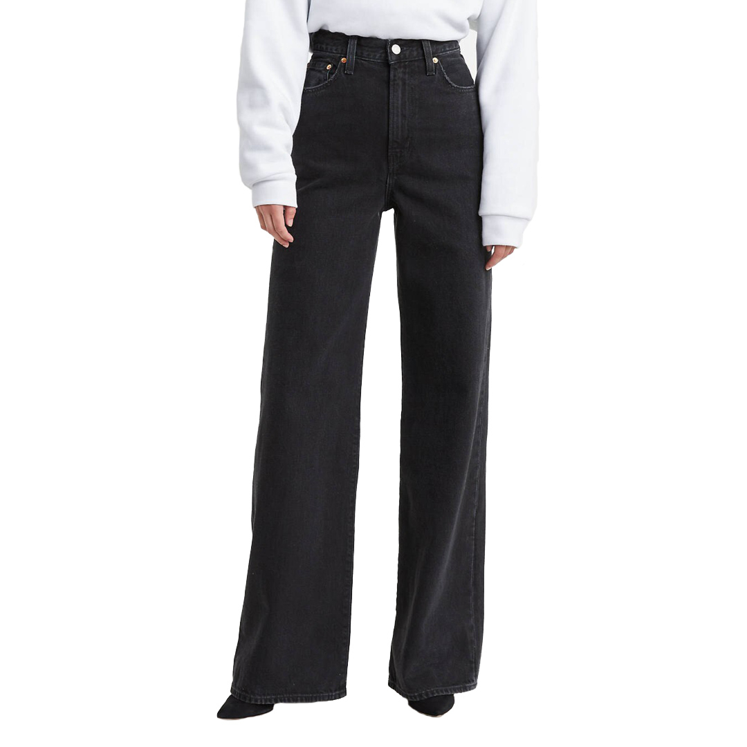 Levi's® Ribcage Wide Leg Jeans - Black Book (79112-0007)