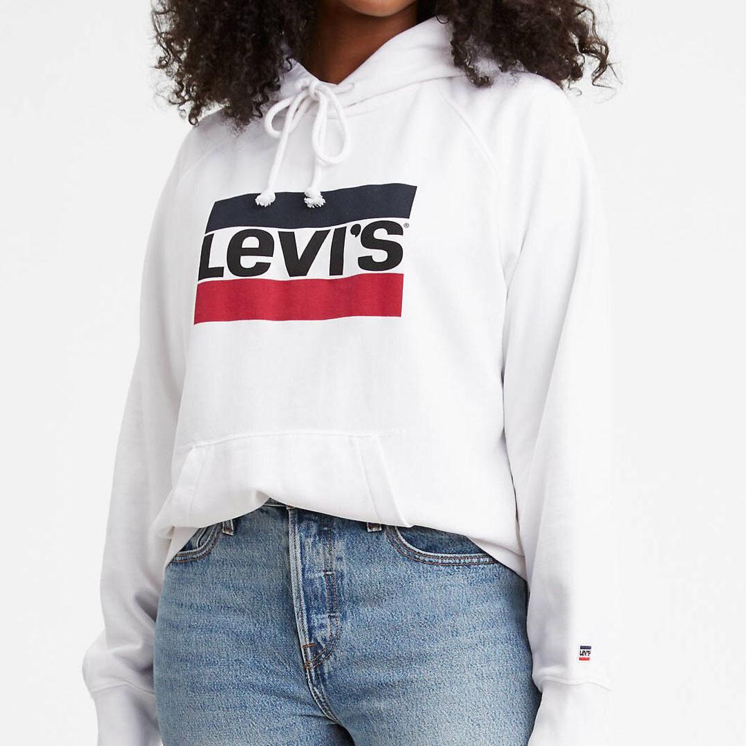 Levi's® Hoodie Sportswear Logo - Marshmallow (35946-0001)