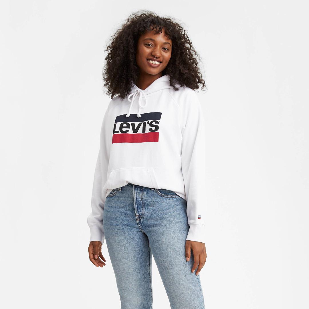 Levi's® Women Hoodie Sportswear Logo - Marshmallow (35946-0001)