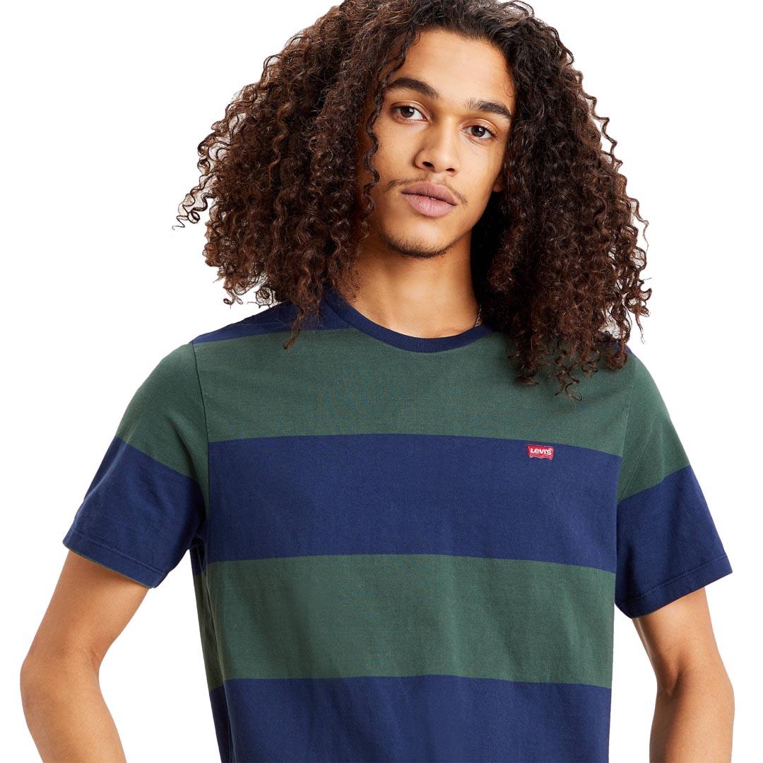 Levi's® Ανδρικο Μπλουζακι Rugby Stripe - Μπλε/ πράσινο (56605-0058)