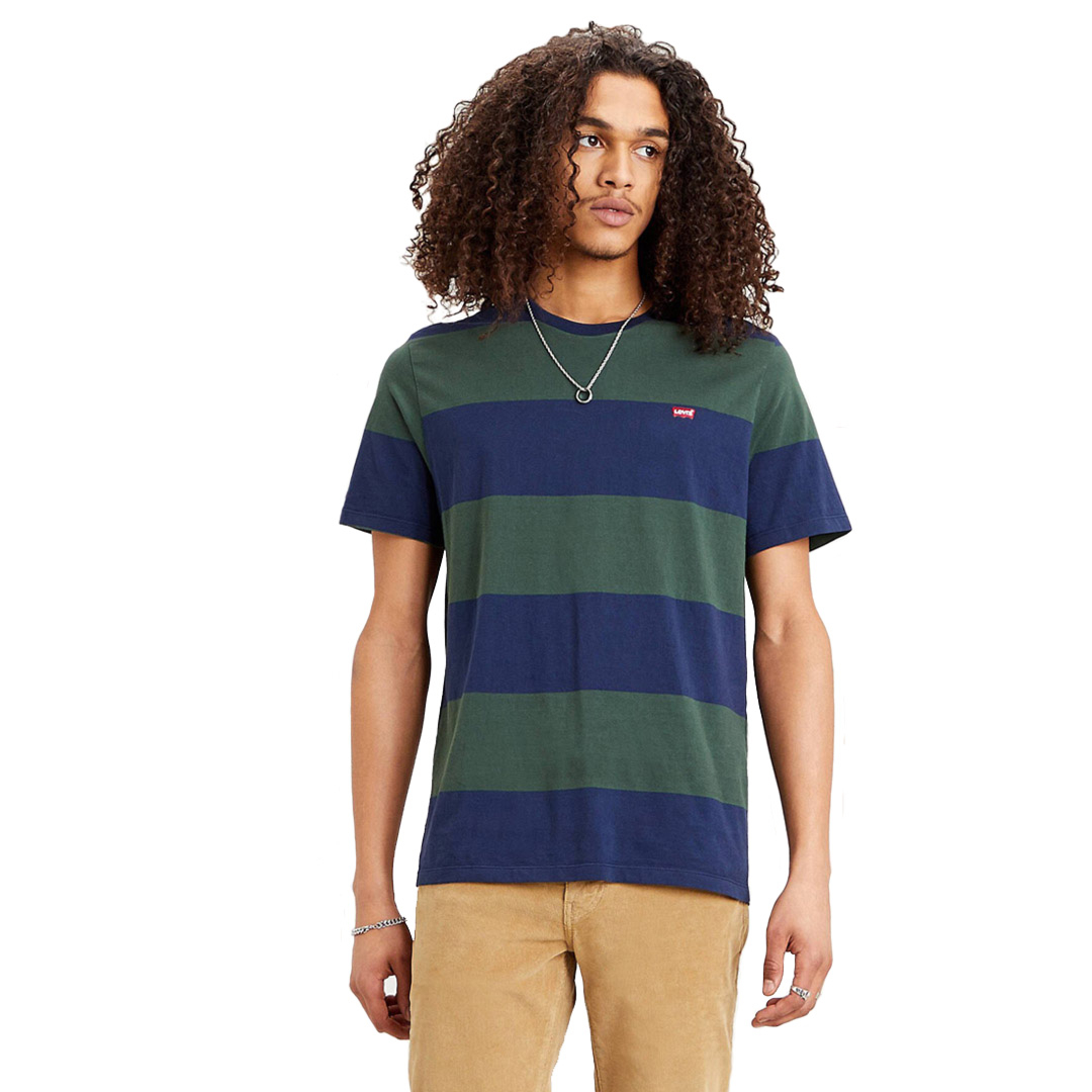 Levi's® The Original HM Tee Rugby Stripe - Dress Blue (56605-0058)