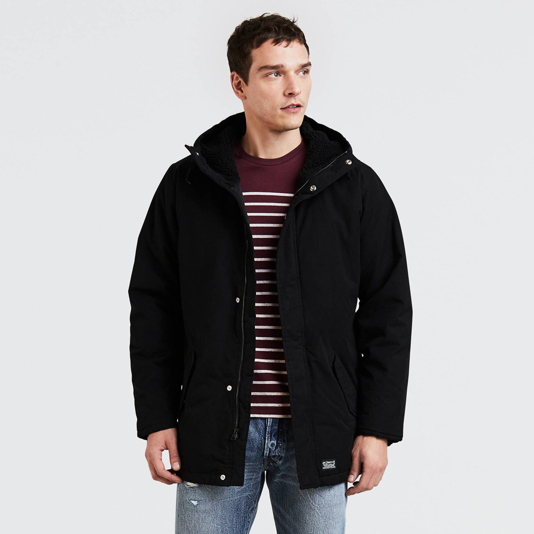 Levi's® Thermore Padded Parka - Black (56578-0000)