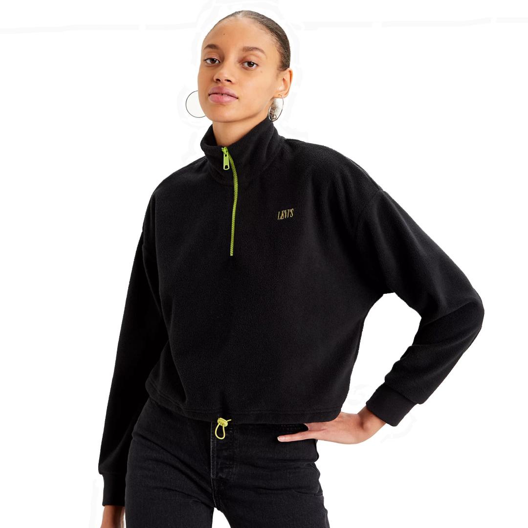 Levi's® Trekker Fleece μπλουζάκι γυναικείο - Μαυρο (21574-0002)