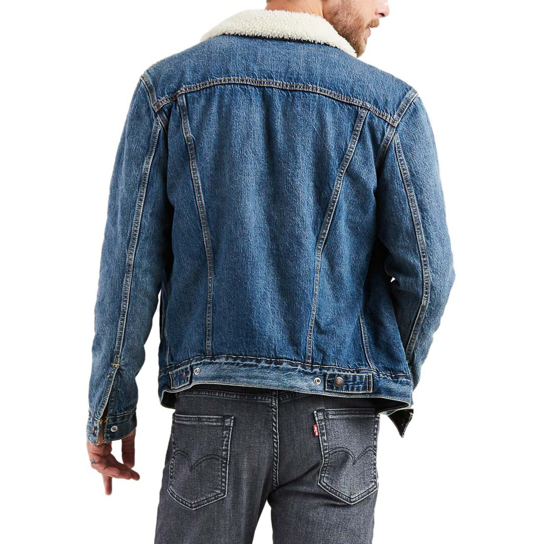 Levi's® Sherpa Type III Trucker Men Jacket - Mayze (16365-0089)