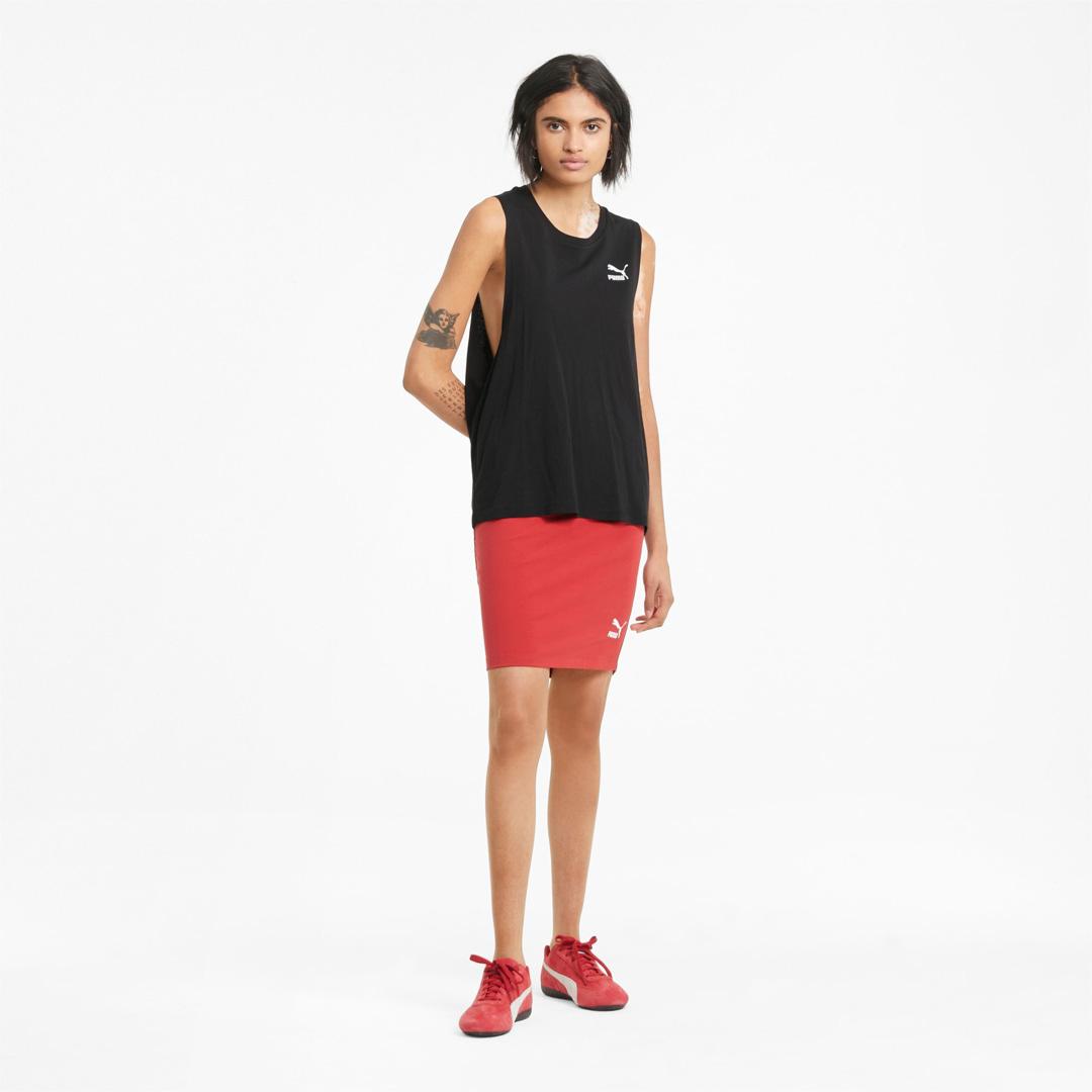 PUMA Classics Γυναικείο Αμάνικο Μπλουζάκι Μαύρο (530850-01)
