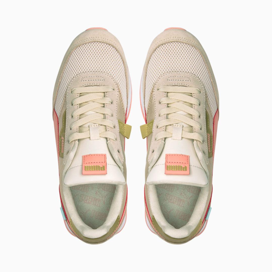 PUMA Future Rider Chrome Παπούτσια Γυναικεία Αθλητικά Μπεζ/ Ροζ (375081-02)