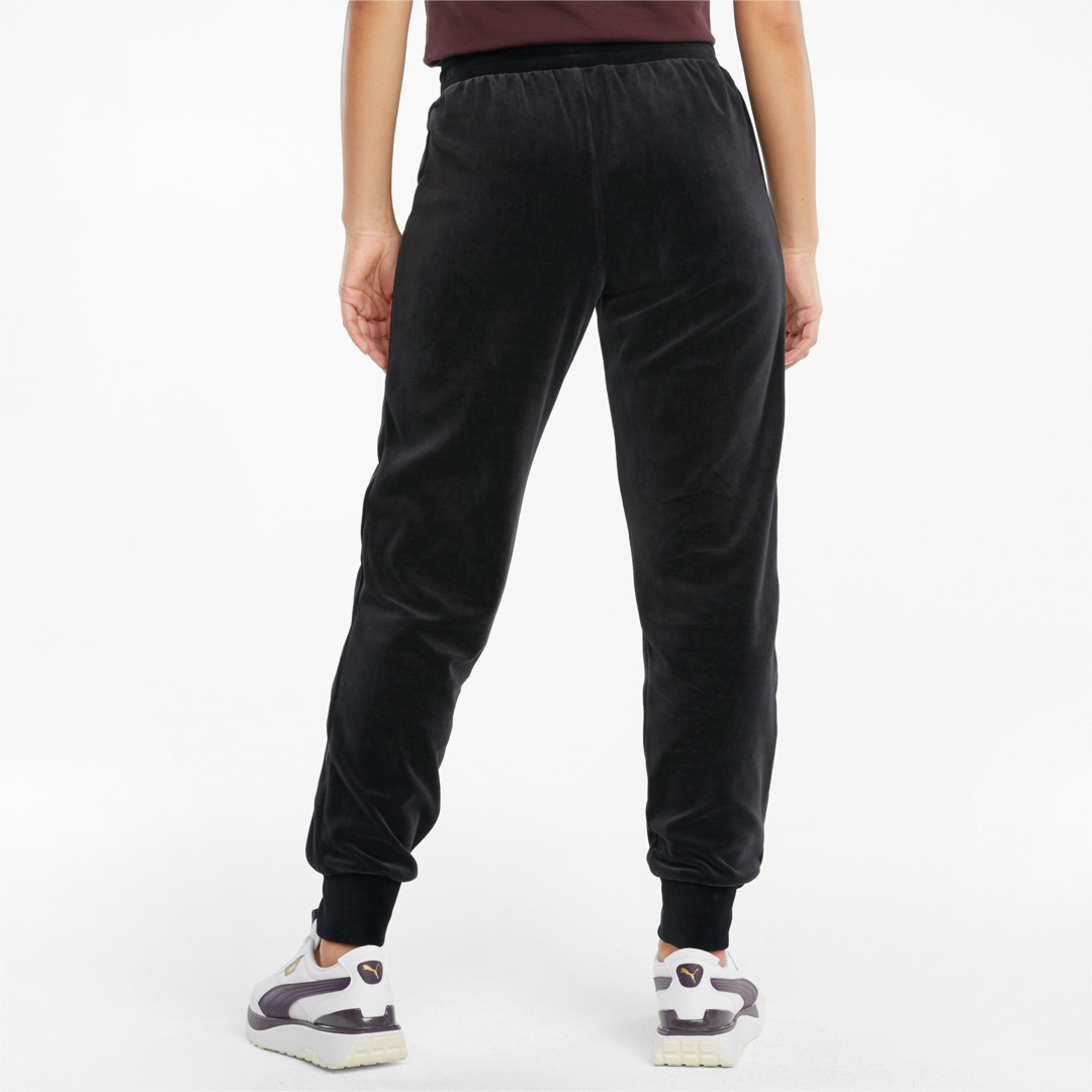 PUMA Iconic T7 Velour Women Pants - Black (531620-01)